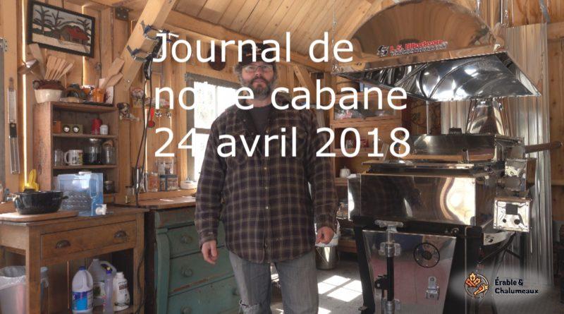 vidéo journal 24 avril 2018