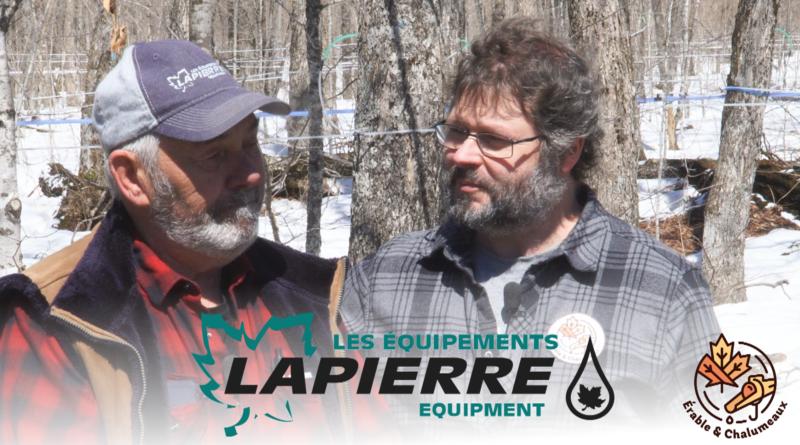 Visite de l'érablière expérimentale des Équipements Lapierre!