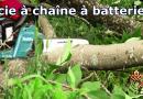 vidéo scie à chaîne à batterie